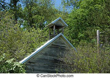 Belfry - The belfry of an old abandoned school.