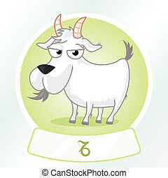 Capricorn Sign - Cartoon horoscope capricorn sign.