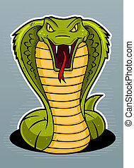Cobra - Angry dangerous cobra vector illustration.