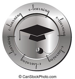 e-learning - Stamp with e-learning