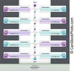 Modern timeline design template eps 10