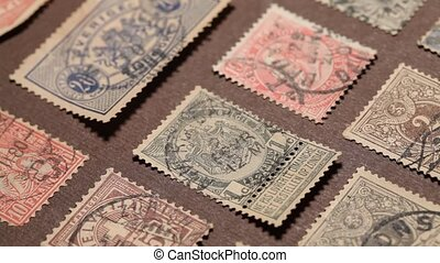 OldStamps - Close up of Old PostalStampAlbum
