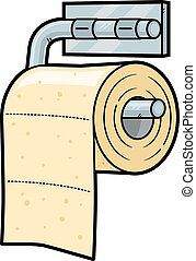 Toilet Paper - Toilet paper cartoon illustration