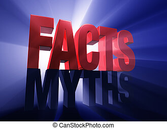 Facts Triumphant - Viewed at a dramatic angle, a bold, red...