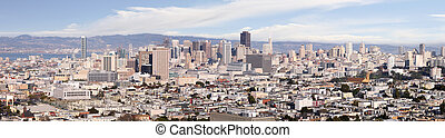 Panorama of San Francisco - A panoramic shot of the city of...