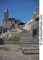 Portovenere - St. Peter's Church in Portovenere, Liguria,...