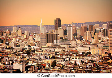 San Francisco - Stylized shot of a city of San Francisco