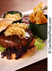 Juicy beef burger - Delicious juicy beef burger with...