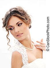 Wedding Beautiful bride - Wedding Attractive bride with...