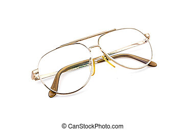 Eyeglasses isolated white background
