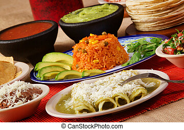 Green enchiladas - Stock image of traditional mexican green...