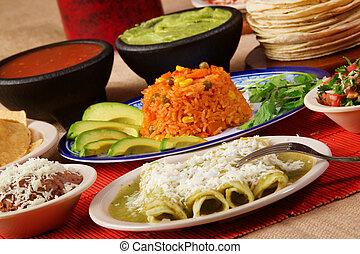 Enchiladas, verde