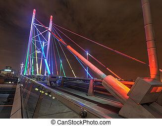 Nelson, Mandela, ponte, JOHANNESBURG, Sa