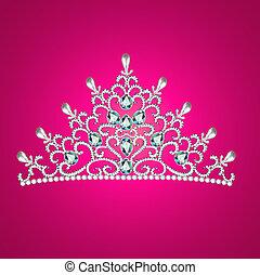 diadem feminine crown - Illustration of diadem feminine...