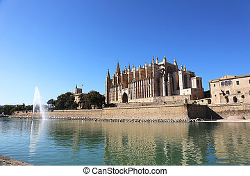 Cathedral Palma de Mallorca - the Cathedral of Santa Maria,...