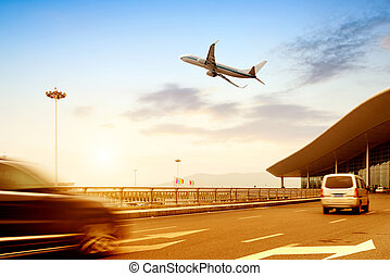 Airport - the scene of T3 airport building in beijing china.