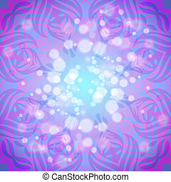 Abstract pink-violet round pattern with lights