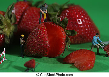 Construction Workers in Conceptual Food Imagery With...