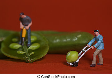 Construction Workers in Conceptual Food Imagery With Snap...