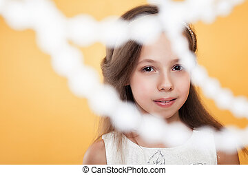 Portrait of beautiful young brown-eyed girl - Portrait of...