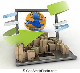 Concept of online goods orders