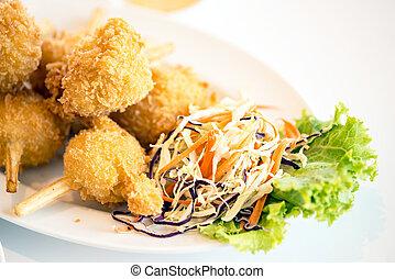 Sugar cane skewered fried minced shrimps or Chao tom -...