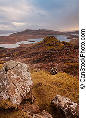 Isle of Skye - Scottish landscapes: Isle of skye at sunset