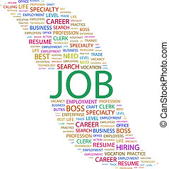 JOB Concept illustration Graphic tag collection Wordcloud...