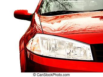 Red Sport Car - Front side, half