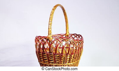 Wicker basket - Festive flower decoration space for a photo...