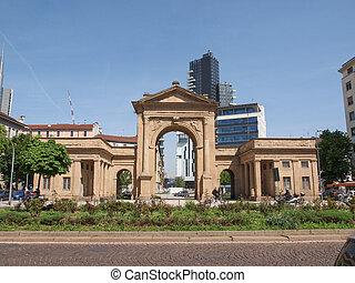 Porta Nuova in Milan - The Porta Nuova city gates in Milan...