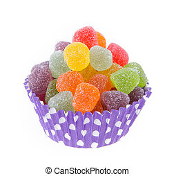 Colorful soft jelly candies
