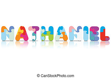 NATHANIEL written with puzzle - NATHANIEL written with...