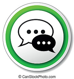 Vector chat round icon - Vector illustration of chat round...