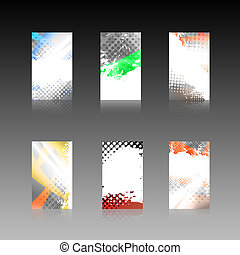 Abstract Business Cards Collection - An assortment of 6...