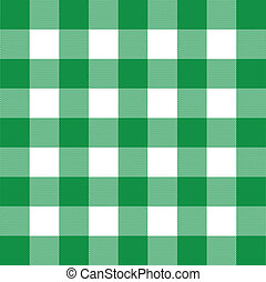 Vector gingham - Vector illustration of gingham green and...