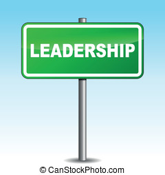 Vector leadership signpost