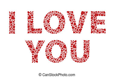 I Love You - I love you red hearts