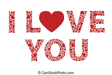 I Love You - I love you valentines hearts