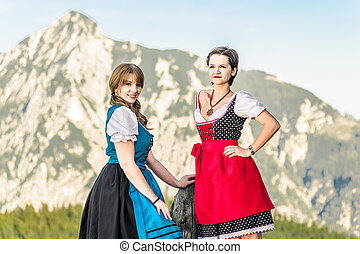 Two beautiful Woman in the Alps