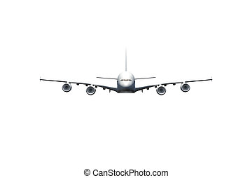 Passenger Air Plane Flying - Passenger air plane flying,...