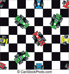 racecar - background pattern with racing theme