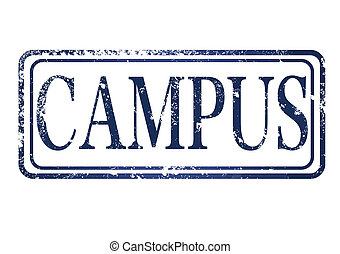 campus stamp - campus grunge stamp with on vector...