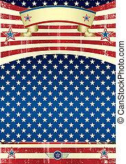 USA grunge poster