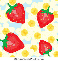 Abstract background with strawberry