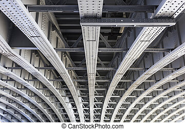 Below Blackfriars Railway Bridge, London - Abstract view...