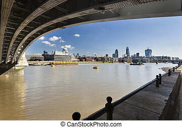 City of London, England - View from under the Blackfriars...