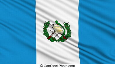 Guatemalan Flag, with real structure of a fabric