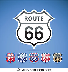 Route 66. - vector illustration.