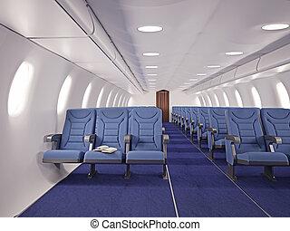 avión, interior
